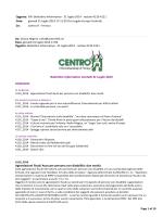 Bollettino Informativo 31 Luglio 2014