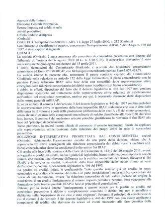 Agenzia delle Entrate 5378 del 2014