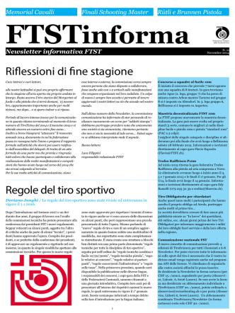 11° Newsletter (19.11.2014) - Federazione Ticinese delle Società di