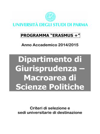 Criteri e Sedi Scienze Politiche 14-15 DEFINITIVO