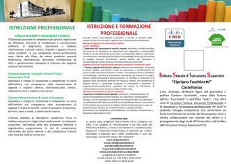Brochure OpenDay - ISIS Facchinetti