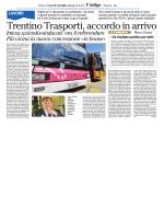 Trentino Trasporti, accordo fino al 2018
