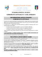 Comunicato 13 - FIGC Gorizia