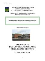 Documento del Consiglio di Classe 5E TSR