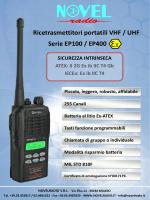 Ricetrasmettitori portatili VHF / UHF Serie EP100 / EP400