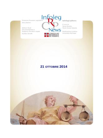 21 OTTOBRE 2014 - Consiglio Regionale del Piemonte