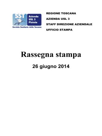20140626 26 giugno 2014 - Azienda USL 3 Pistoia