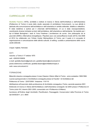 Curriculum Vitae - Urban Center Metropolitano