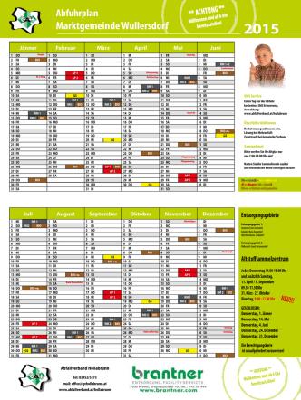 Abfuhrplan 2015 [PDF] - Marktgemeinde Wullersdorf