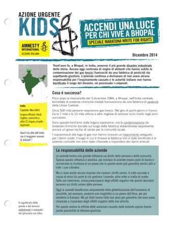 ACCENDI UNA LUCE - Amnesty Kids