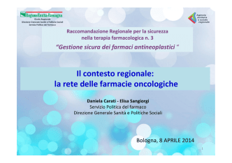 (Bologna, 8 aprile 2014) -