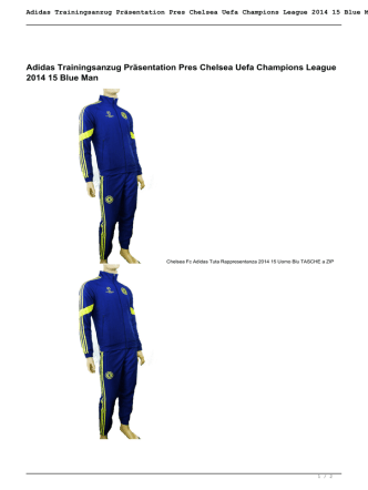 Adidas Trainingsanzug Präsentation Pres Chelsea
