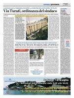 Via Turati,ordinanza del sindaco