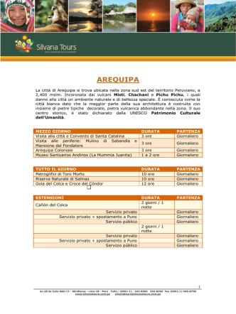 AREQUIPA - Silvana Tours