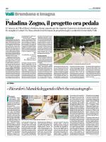 La nuova ciclabile Paladina-Zogno