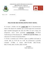 Avviso deposito pratiche UTR04 - Comune di Santo Stefano di