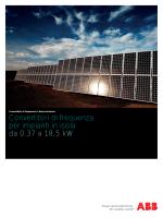 Convertitori di frequenza per impianti in isola da 0,37 a 18,5 kW