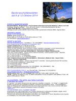 BardonecchiaNewsletter dal 6 al 12 Ottobre 2014