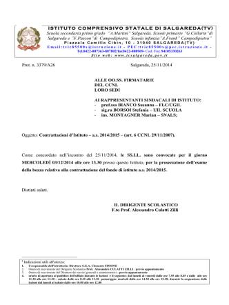 Convocazione rsu prosecuzione contrattazione 03_12_2014