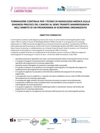 (TRM) sulla diagnosi precoce del cancro al seno