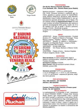 8° raduno 29 giugno 2014 vespa club venaria reale