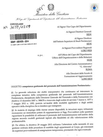 15.7.2014 competenza gestionale del personale dell