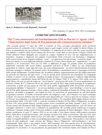 31 Agosto 1943 - Associazione Amici di Pisa