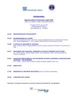 Programma seminario USA