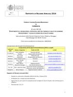 Rapporto di Riesame Annuale 2014 - Corso di Laurea Magistrale a