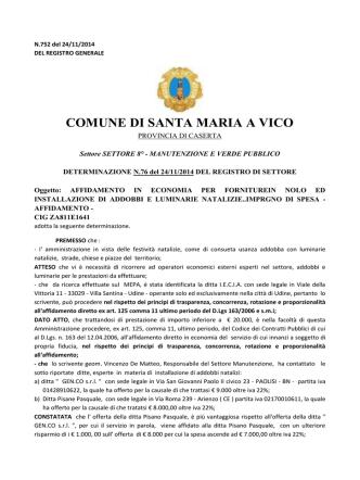 752 - Comune di Santa Maria a Vico