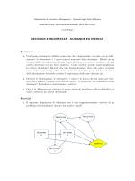 DECISIONI E INCERTEZZA - DOMANDE ED ESERCIZI Domande