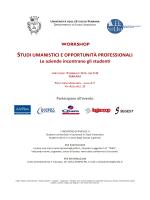 Programma Workshop StUm 2014 - Università degli Studi di Ferrara