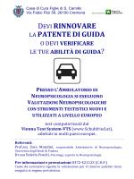 Volantino rinnovo patente - Casa di Cura Figlie di San Camillo