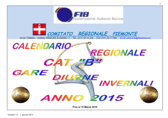 CALENDARIO INVERNALE CAT. B -2015- - Home Page
