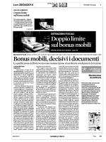 2014 04 28 .. Bonus Mobili, Attenzione ai Documenti .. 24Ore