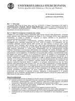 Bando - CISt.RE - Università degli studi di Pavia
