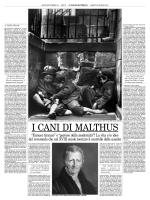 I cani di Malthus - Associazione Scienza e Vita