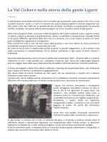 La Val Cichero nella storia della gente Ligure