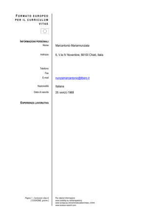 C.V. Prof.ssa M. Marcantonio (Ampliamento Offerta Formativa)
