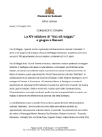 """La XIV edizione di """"Voci di maggio"""" a giugno a Sassari"""