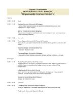 Programma convegno Slavistica - Dipartimento di Scienze