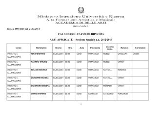 calendario tesi sess. speciale 2012-13