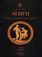 agoge vi-vii – 2009-2010 - Dipartimento di Civiltà e Forme del Sapere