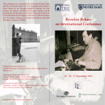 Brendan Behan - The James Joyce Italian Foundation