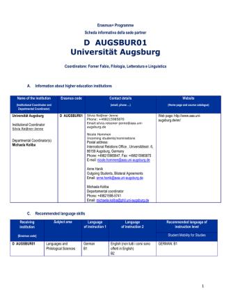 D AUGSBUR01 Universität Augsburg