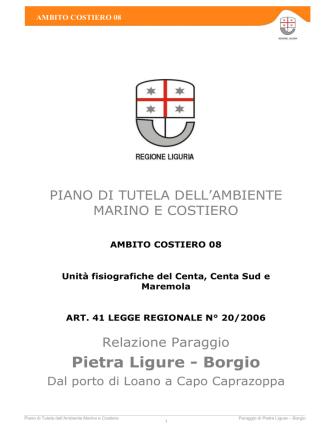 ambito costiero 08 - Ambiente in Liguria