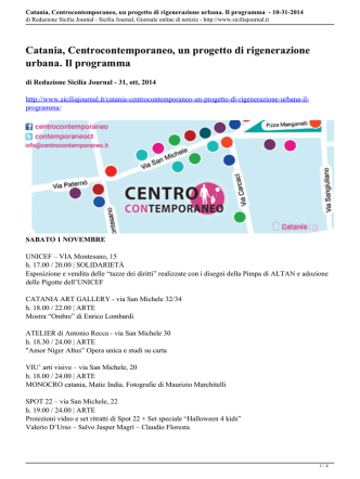 Catania, Centrocontemporaneo, un progetto di