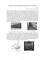 Improved Seismic Performance of Braced Frame Connections