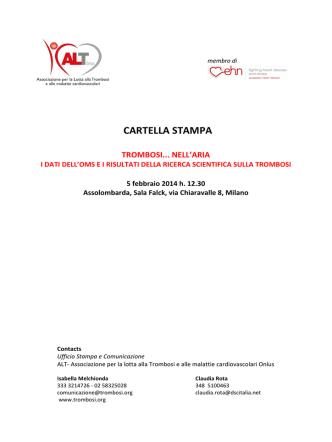 CARTELLA STAMPA - Associazione per la Lotta alla Trombosi