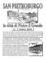 3 -7 APRILE 2015 - Ctg Il Girasole